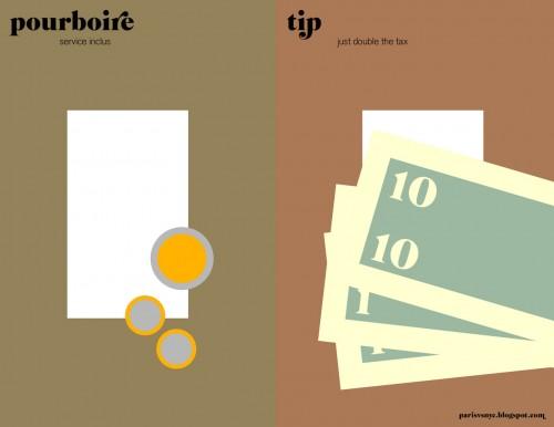 Paris vs NYC - Pourboire vs Tip