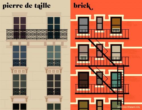 Paris vs NYC - Pierre de taille vs Brick