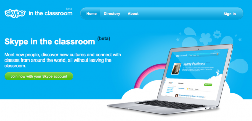 Skype has launched a beta version of skype in the classroom